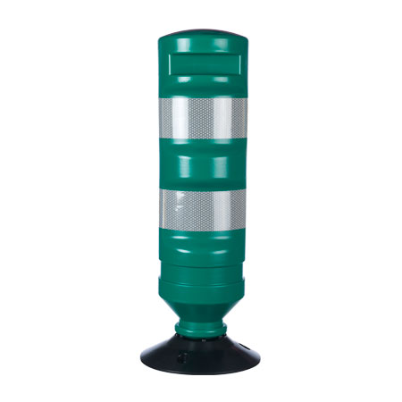 Green Traffic Delineator Post With Base