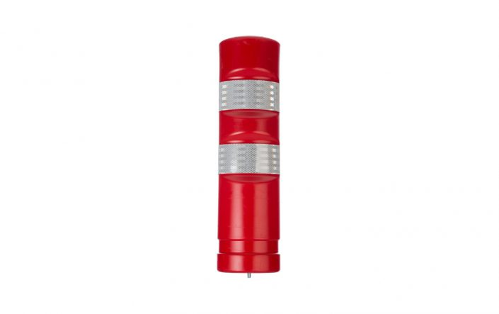 Red Traffic Delineator Post