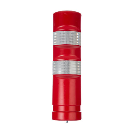 Red Traffic Delineator Post H-75