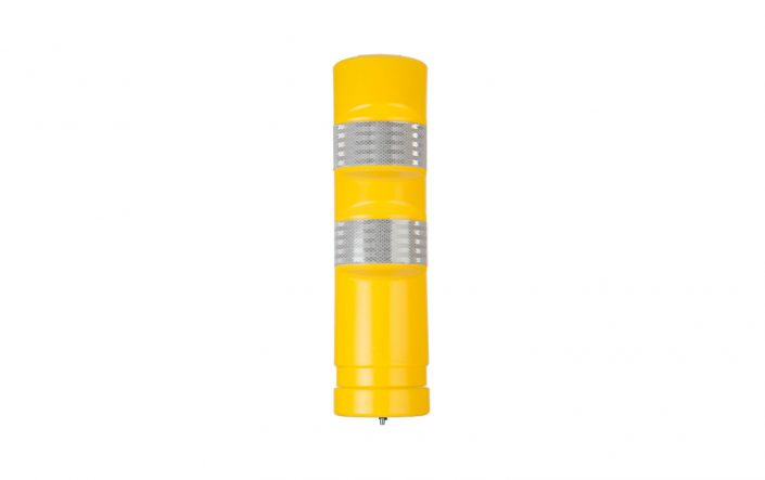 Yellow Traffic Delineator Post