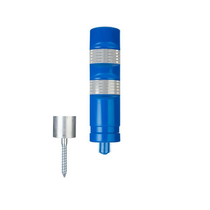traffic detachable blue bollard with screw