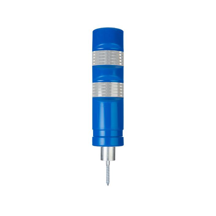traffic detachable blue bollard